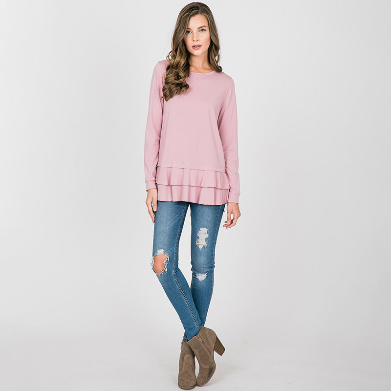 Peggy Peplum Sweater Pink