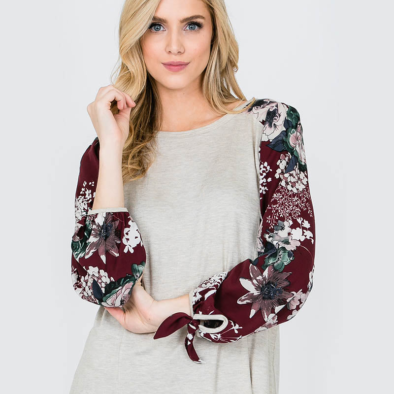 Missy Floral Sleeve Berry