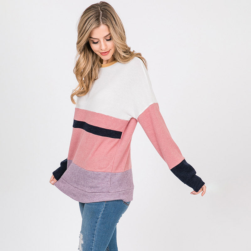 Shona Soft Stripe Top PInk