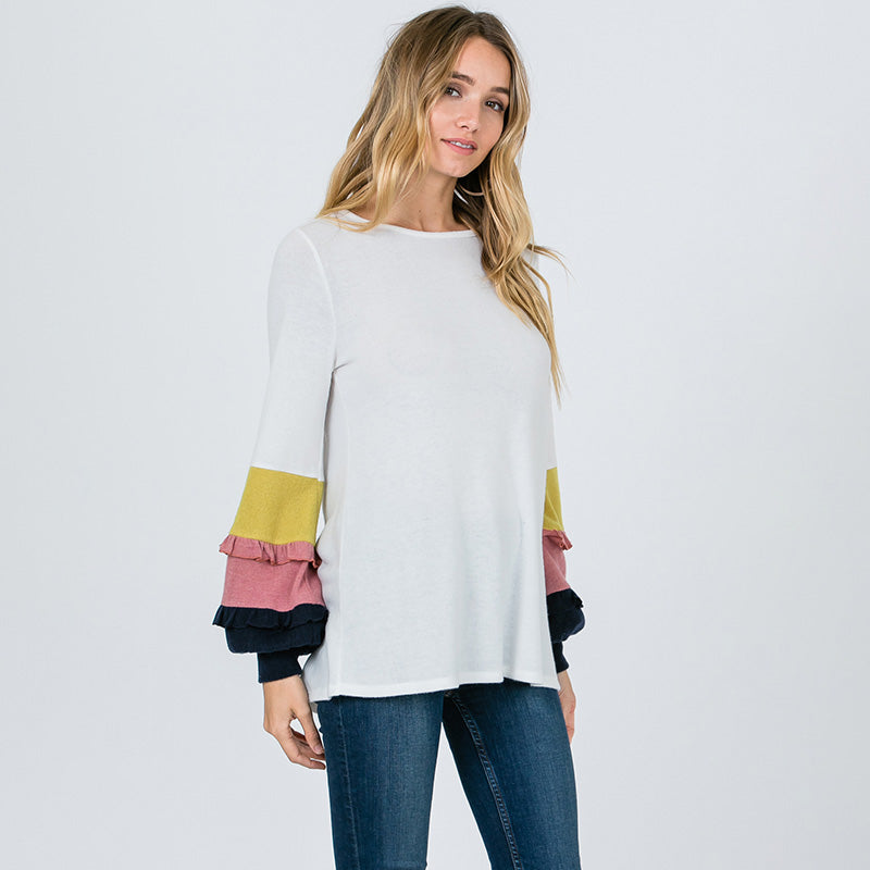 Chloe Candy Sleeve Top