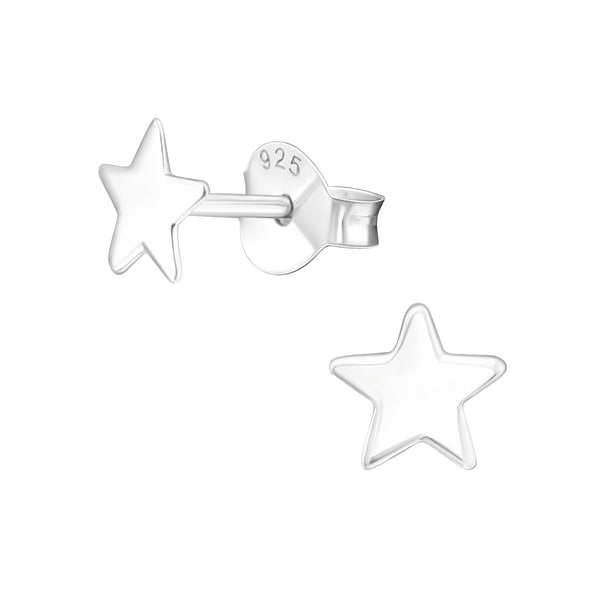 Sterling Silver Star Stud
