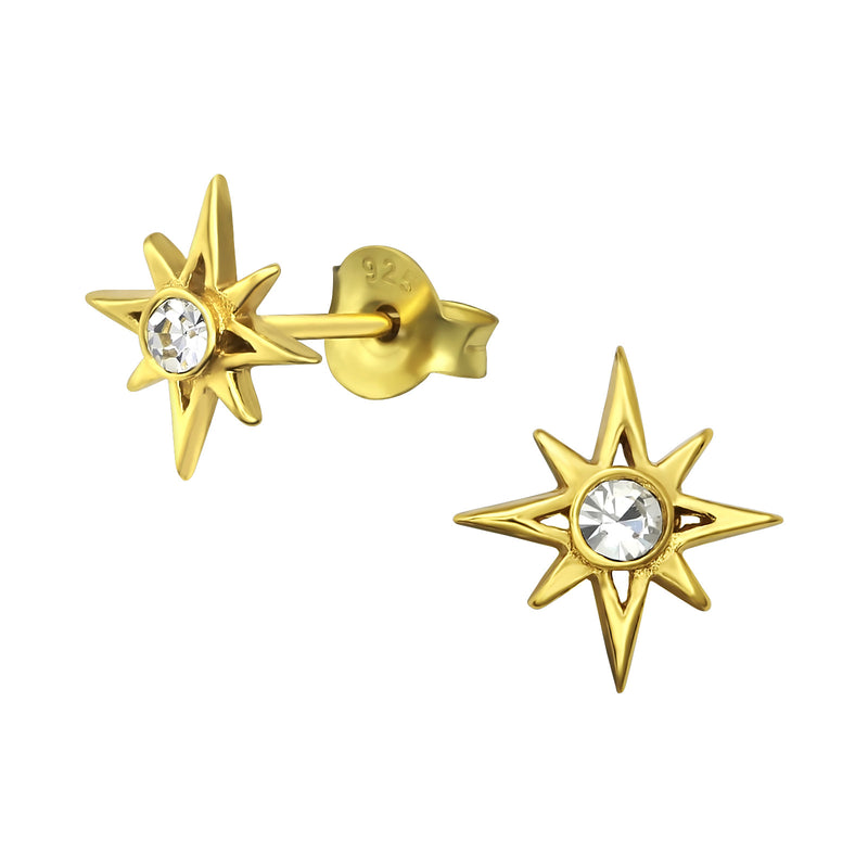 Gold Star Crystal Stud