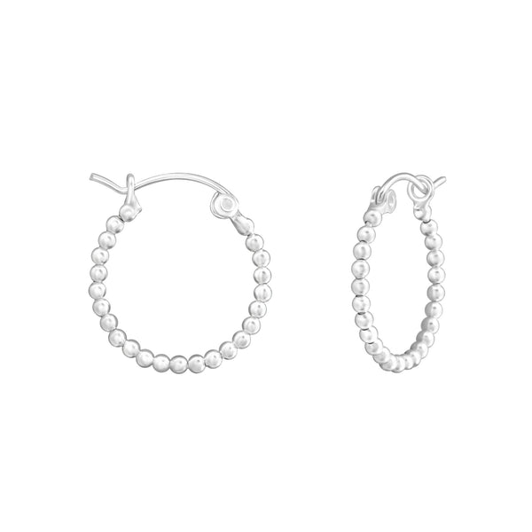 Sterling Silver Mini Ball Hoops
