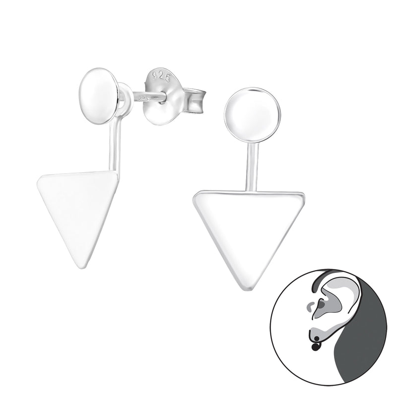 Sterling Silver Double Triangle Stud Earring