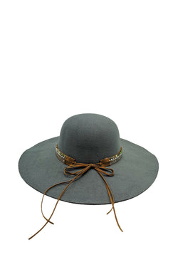 Dahlia Wide Brim Hat (Grey)