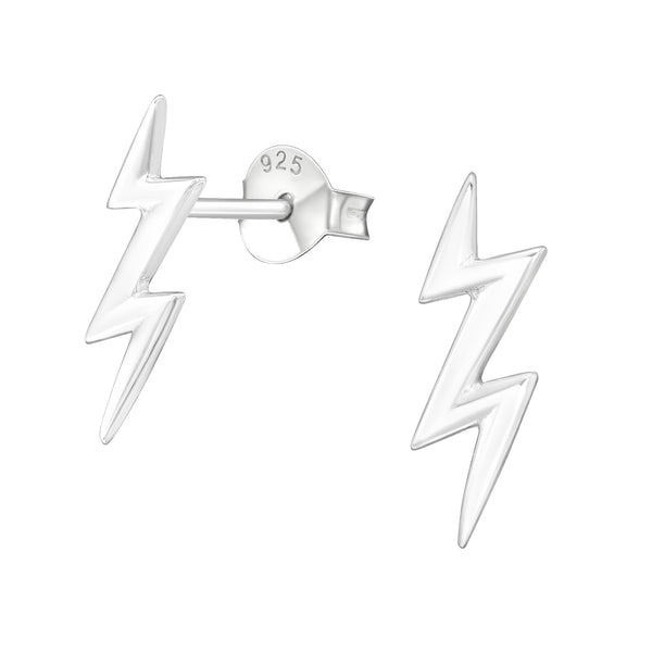 Sterling Silver Lightening Bolt Earrings