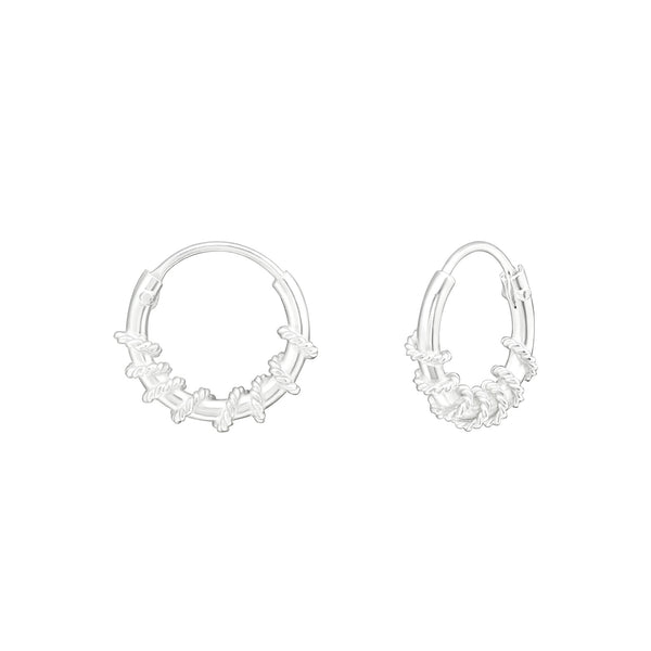 Sterling Silver Coil Hoop Earrings