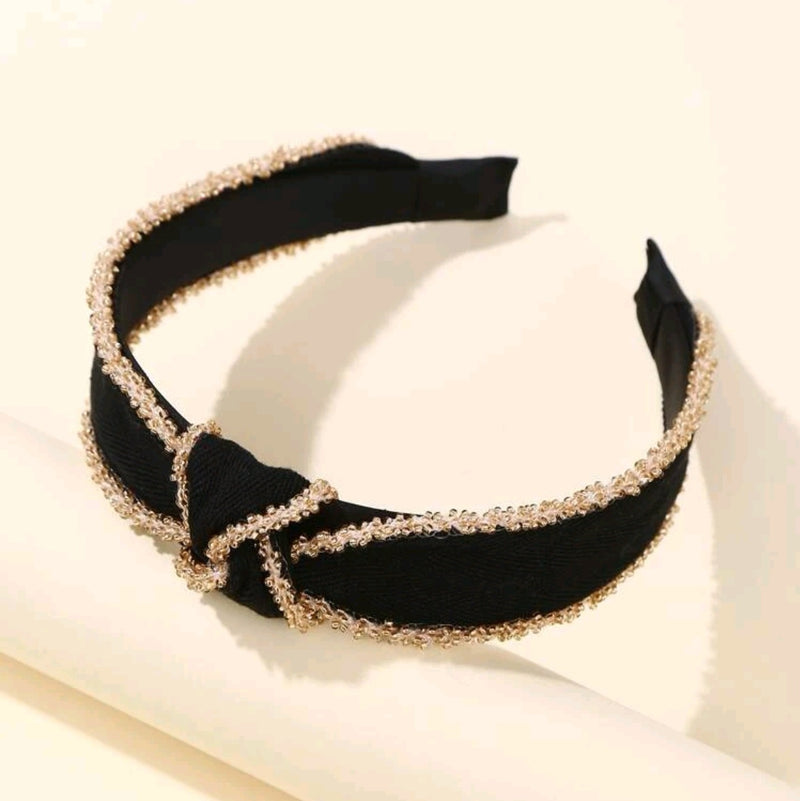 Boho Black Hairband