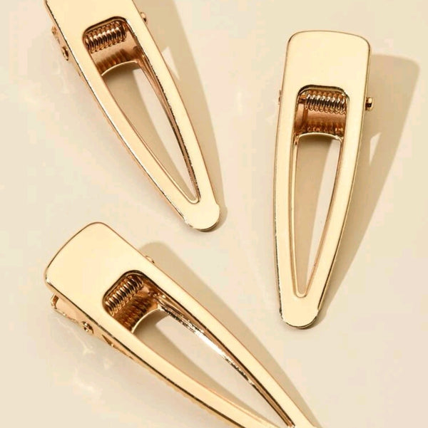 3pcs Gold Hair Clips