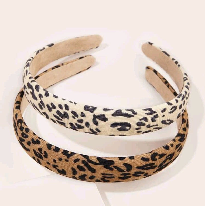 2pcs Simple Leopard Hairband