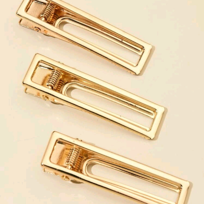 3pcs Geometric Hair Clip