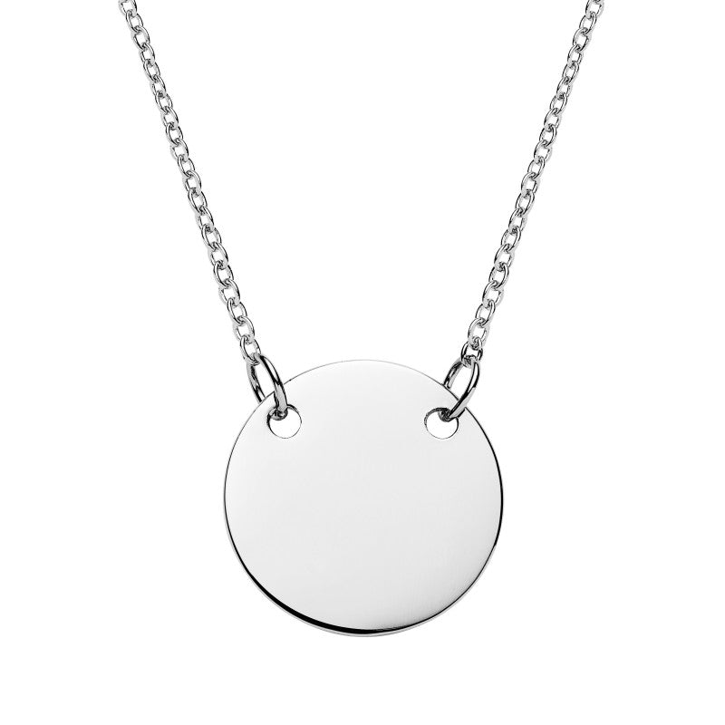Sterling Silver Centred Disk Necklace
