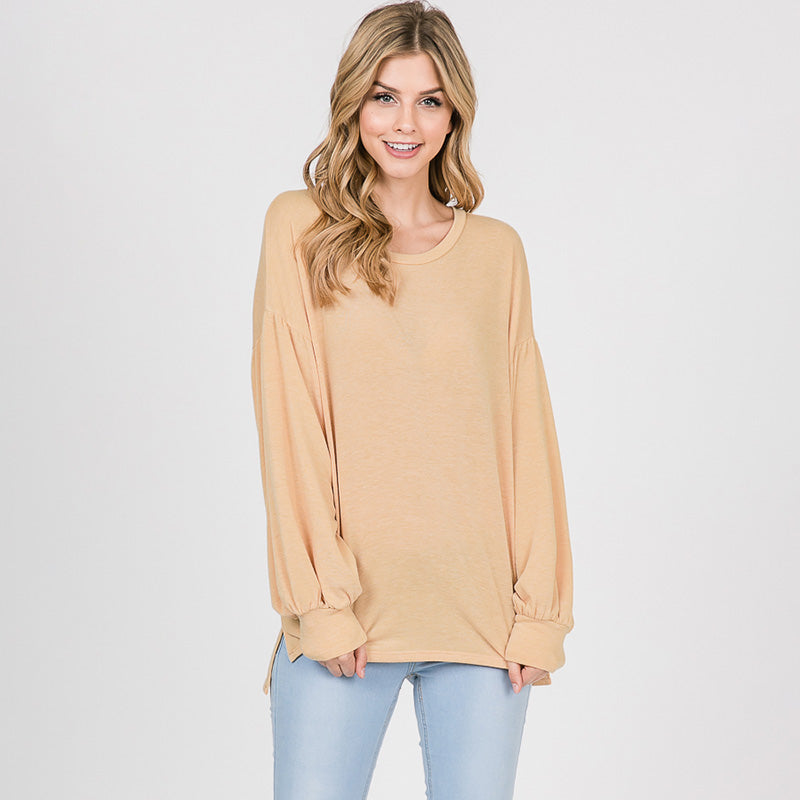 Hannah Balloon Sleeve Top Buttercup