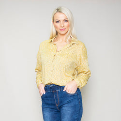 Penny Floral Shirt (Lemon)