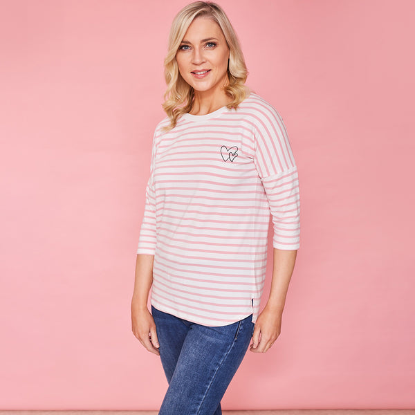 Nova Top (Pink Stripe)