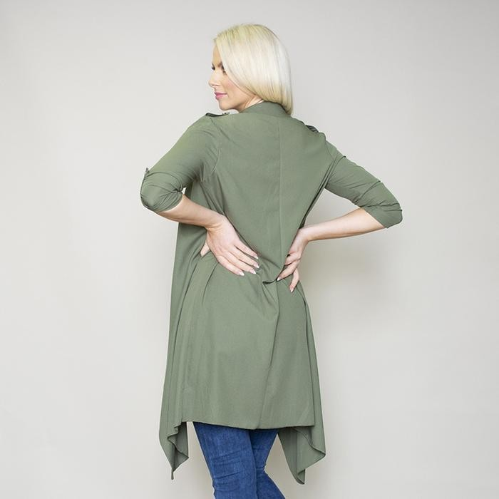 Jenny Waterfall Cardigan (Khaki)