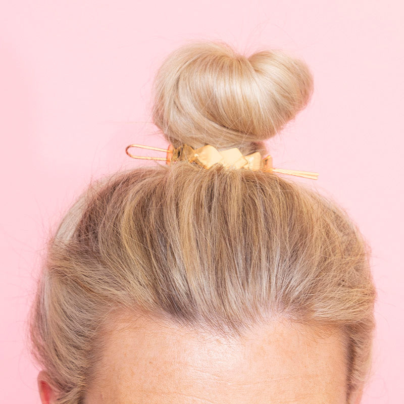 Rio Geometric Messy Bun (Gold)