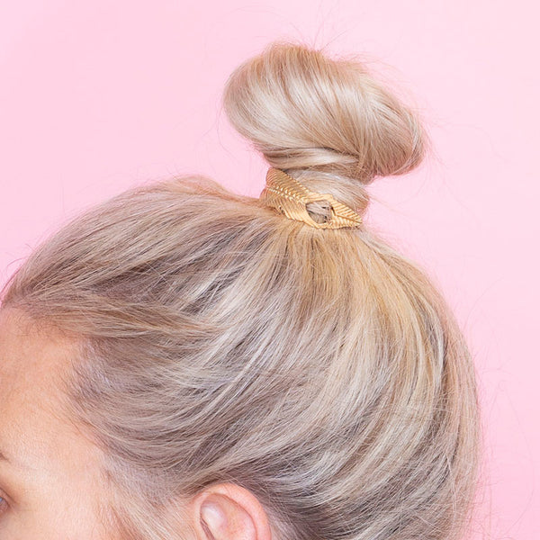 Clara  Messy Bun Hair (Gold)