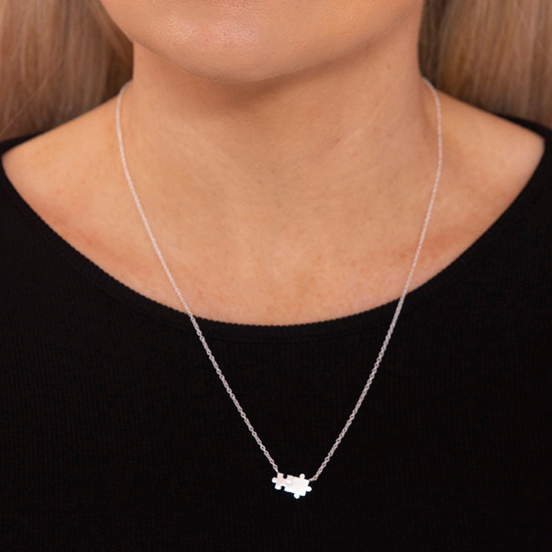 Sterling Silver Jigsaw Necklace