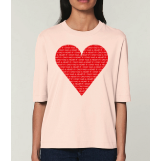 Joyce Paton Candy Pink If I Only Had A Heart T-Shirt