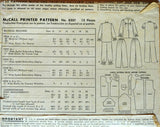 Uncut 1950s McCall's Vintage Sewing Pattern 8307, Size 20