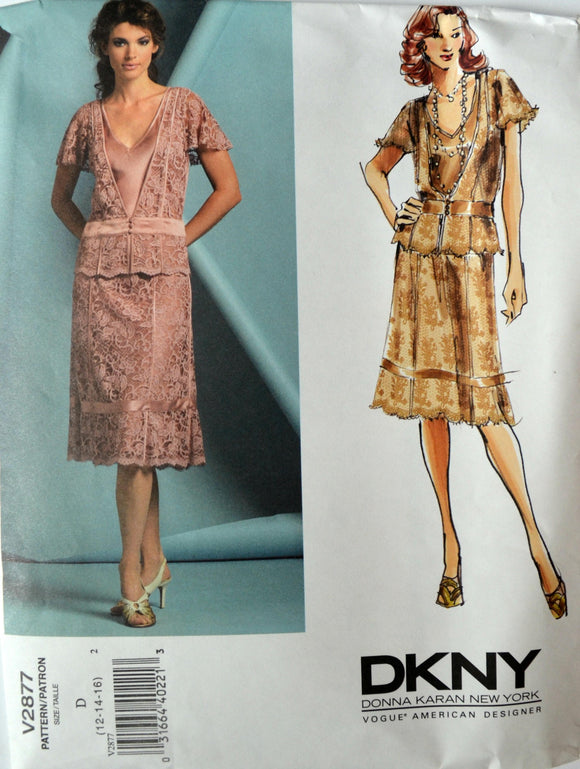 Uncut 2005 Vogue Sewing Pattern 2877; Size 12-14-16