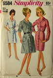 Uncut 1960s Simplicity Vintage Sewing Pattern 6584, Size 18