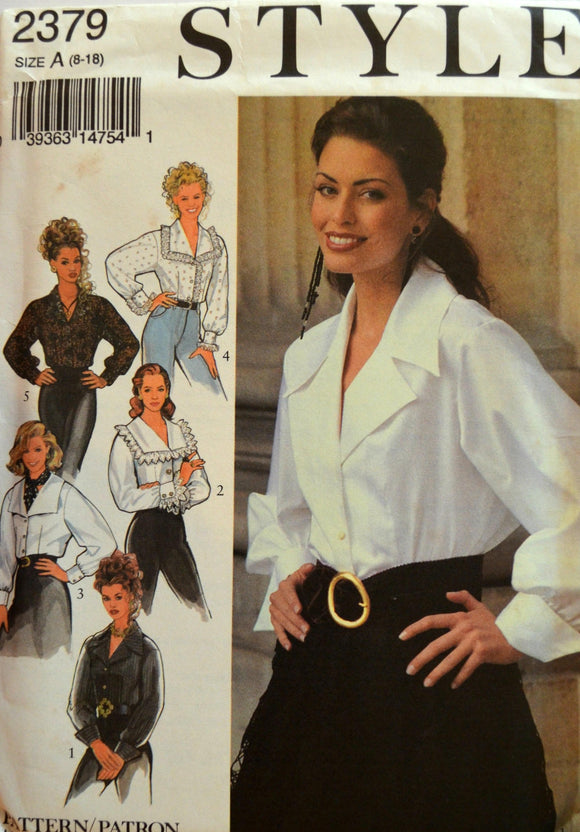 Uncut 1990s Style Vintage Sewing Pattern 2379, Size 8-18