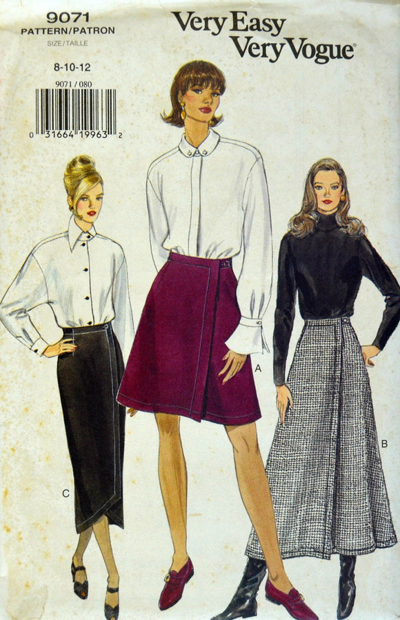 Uncut 1990s Vogue Vintage Sewing Pattern 9071, Size 8-10-12