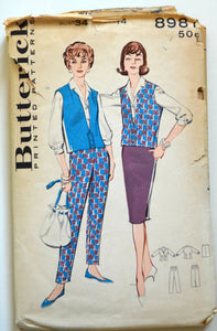 1950s Butterick Vintage Sewing Pattern 8987, Size 14