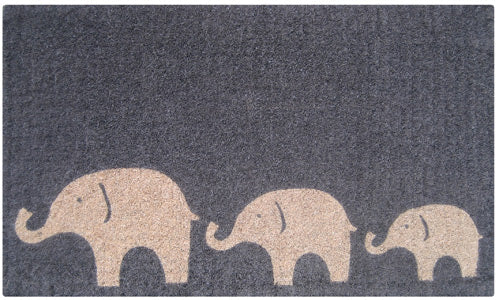 3 Elephants Doormat