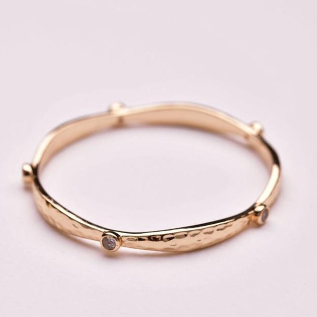Crystal Bangle - Gold