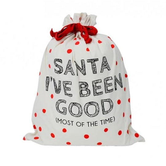 Canvas Santa Sack - Santa I've Been Good