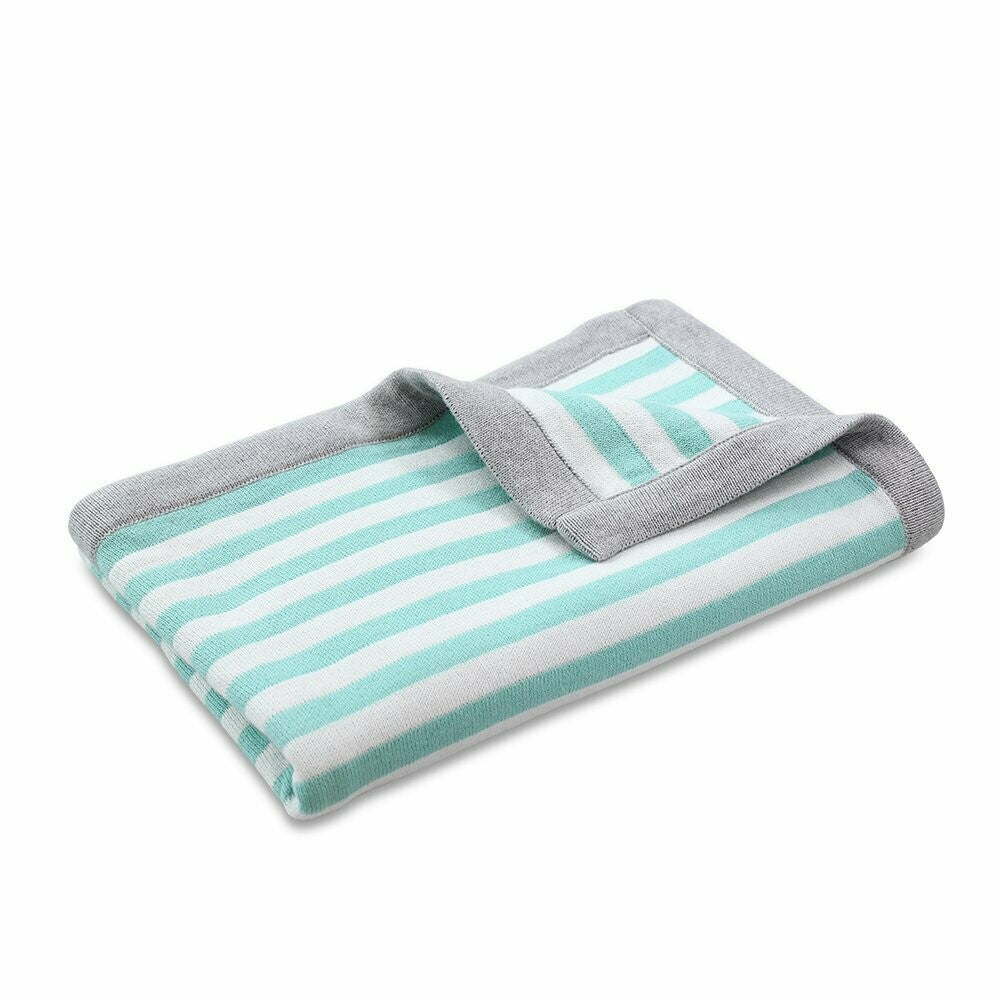 Joey Stripe Cotton Knit Blanket