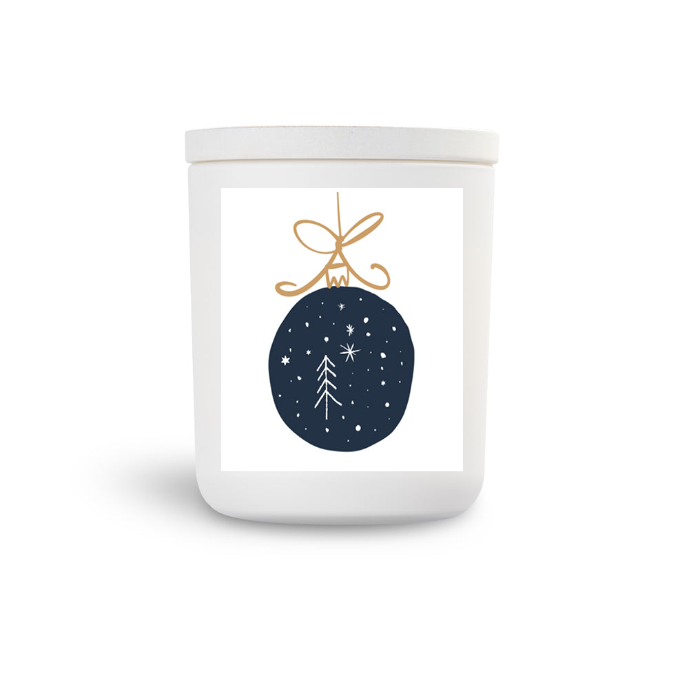 TN Mini White Candle Bauble Lychee Peony