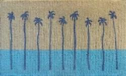 Palm Springs Doormat Blue
