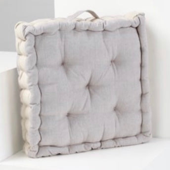 Chambray Box Cushion - Driftwood