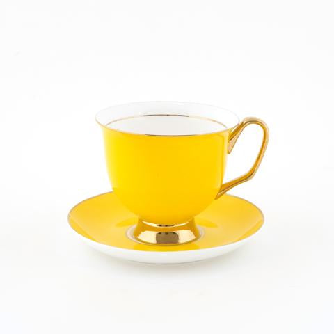 XL Yellow Teacup & Saucer