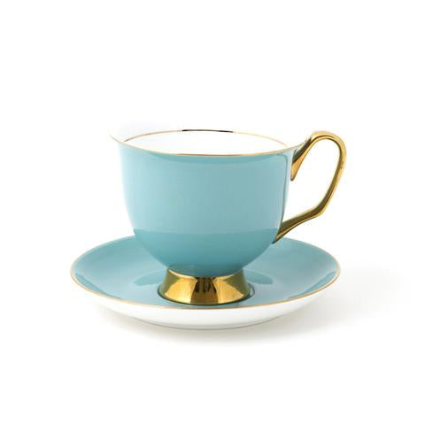 XL Pale Blue Teacup & Saucer