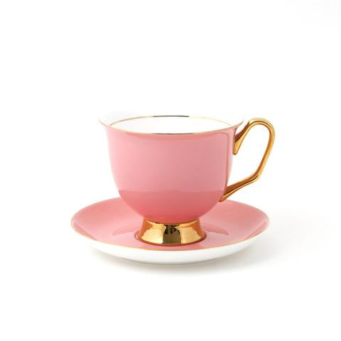 XL Pale Pink Teacup & Saucer