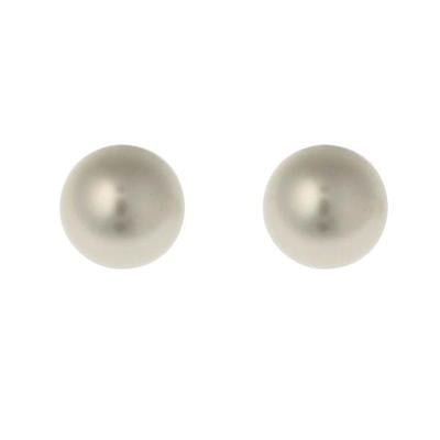 Sybella 12mm Pearl Stud Earrings White