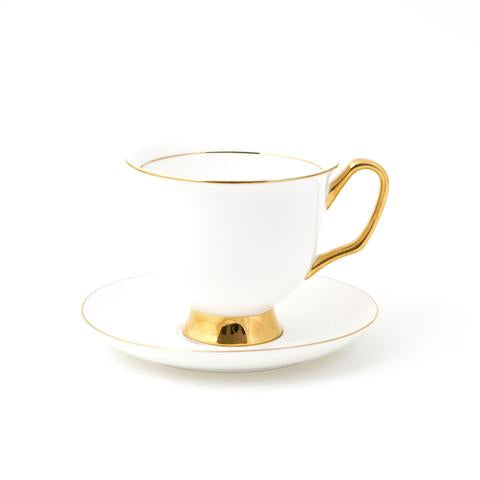 XL White Teacup & Saucer