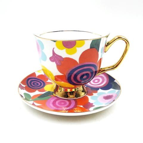 XL Flourish Teacup and Saucer