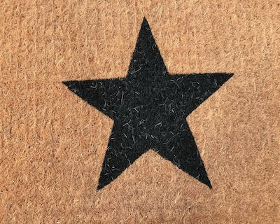 Black Star Doormat
