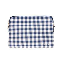 Bowery Wallet Crossbody Navy Gingham