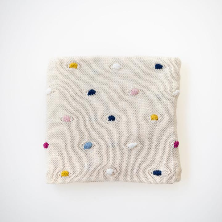 Confetti Natural Baby Blanket