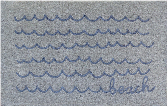 Beach waves doormat