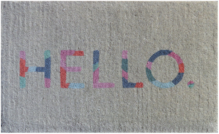 Colour Hello Doormat