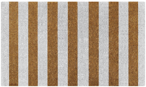 White Stripes Doormat