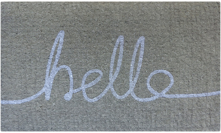White Hello Doormat